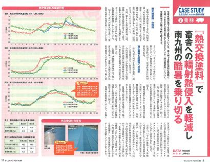 Heat Exchange Paint was featured in the 80th edition of Livestock Club 21 (a Japan Agriculture publication)